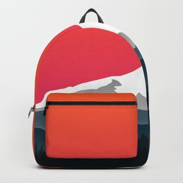 Mount Hood Winter Forest - Sunset Backpack