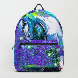 HORSE DANCING IN STAR LIGHT AND MOON DUST Backpack