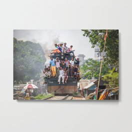 Train in the kitchen Metal Print
