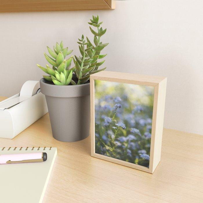 Forget-me-not meadow Spring Flower Flowers Floral Framed Mini Art Print