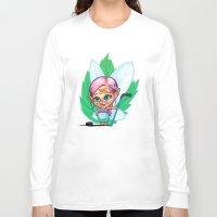 hockey Long Sleeve T-shirts featuring Hockey Elf by Havard Glenne