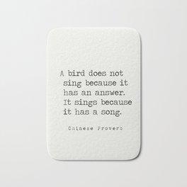 Chinese proverb 3 Bath Mat