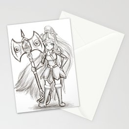 Hallow Warrior Stationery Cards
