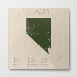 Nevada Parks Metal Print