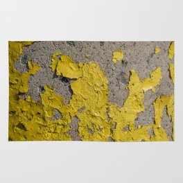 Yellow Peeling Paint on Concrete 2 Rug