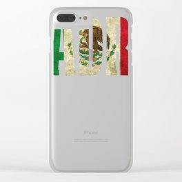 Mexican Design For Mexican Flag Design for Padre Mexican Pride Vintage Clear iPhone Case