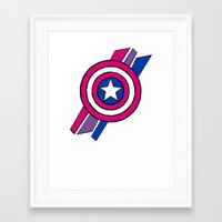shield Framed Art Prints featuring Shield by Shop 5