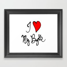 I love my bike Framed Art Print