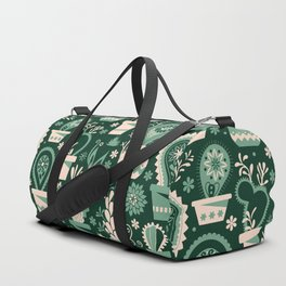 Paisley succulents Duffle Bag