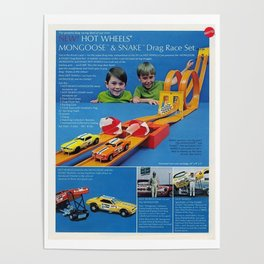 1971 Hot Wheels Sears Catalog Snake & Mongoose MOPAR Poster Poster