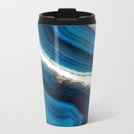 Blue Agate Metal Travel Mug