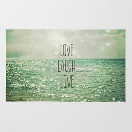 Love Laugh Live Rug