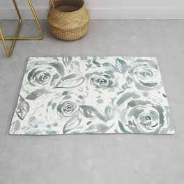 Evelyn Gray Floral Rug