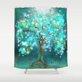 Tree of Light Shower Curtain