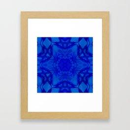 Blue kaleidoscope 2 Framed Art Print