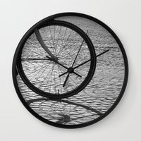 bicycle Wall Clocks featuring bicycle by habish