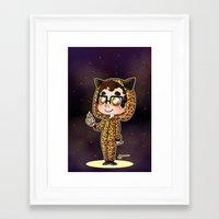 darren criss Framed Art Prints featuring Darren & BB8 by Sunshunes