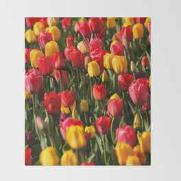 Peace, Love And Tulips Throw Blanket