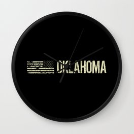 Black Flag: Oklahoma Wall Clock