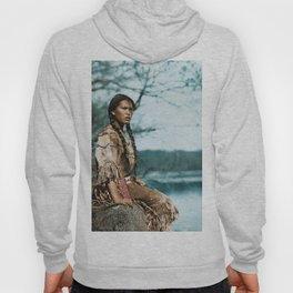 Ponemah by the Lake - Ojibwe Woman - American Indian Hoody
