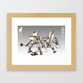 Toiletbots Framed Art Print