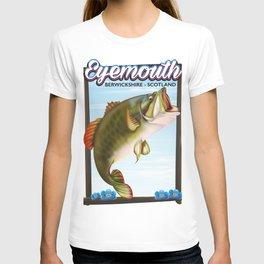 Eyemouth,Berwickshire, Scotland fishing poster T-shirt