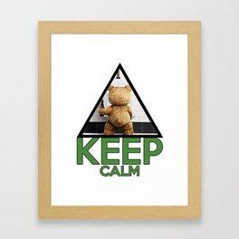 """Keep Calm """"Ted"""" Framed Art Print"""