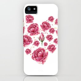 Floral heart of roses iPhone Case