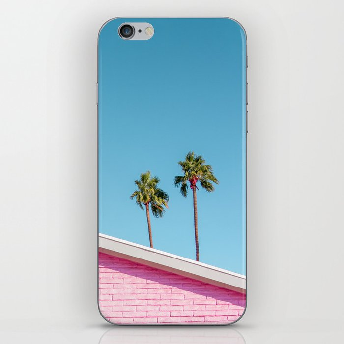 Pink House Roofline with Palm Trees (Palm Springs) iPhone Skin