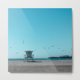 Birds and lifeguard Metal Print