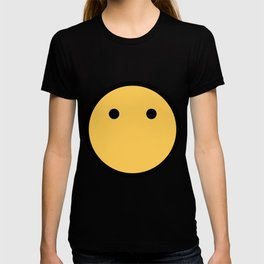 Smiley Face   No Mouth Only Eyes T-shirt