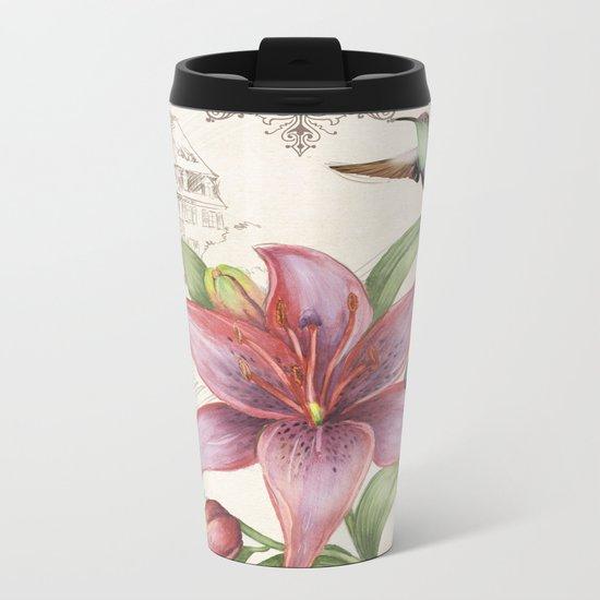 Macro Flower #15 Metal Travel Mug