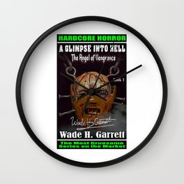 """""""The Angel of Vengeance"""" book cover art with signature Wall Clock"""
