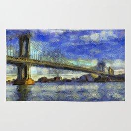 Manhattan Bridge New York Art Rug