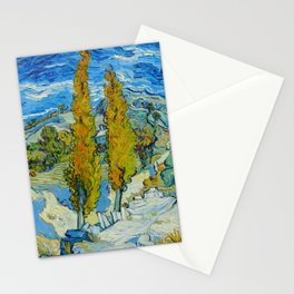 Vincent Van Gogh - The Poplars at Saint-Rémy Stationery Cards
