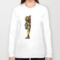 metroid Long Sleeve T-shirts featuring Metroid by Slippytee Clothing