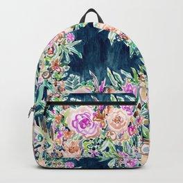SO RICH Dark Boho Floral Backpack