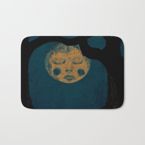 Moon With The Blues Bath Mat