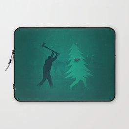 Funny Christmas Tree Hunted by lumberjack (Funny Humor) Laptop Sleeve
