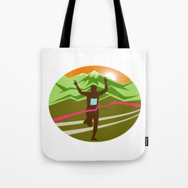 Marathon Finisher Oval Tote Bag