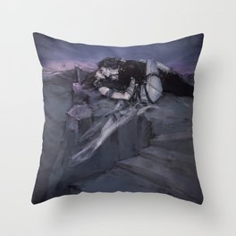 in a softer world (you'd stay) Throw Pillow