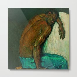 Portrait of a Black Man in Paris by Paul Cezanne Metal Print