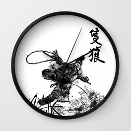 Young Wolf Wall Clock