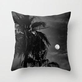 Palm Glow Throw Pillow