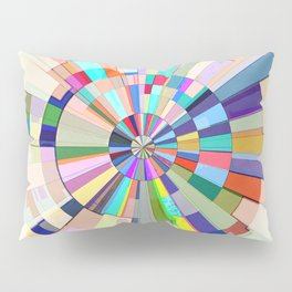 Abstract Color Wheel Pillow Sham