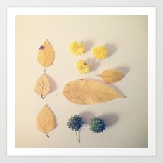 Yellow Autumn Collection Art Print