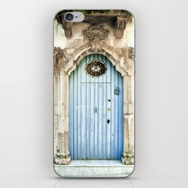 Blue door iPhone Skin