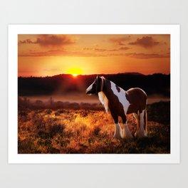 Gypsy Sunset Art Print