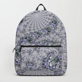 Gray Fractal Spirals Backpack