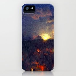 Full moon in the summer night sky iPhone Case